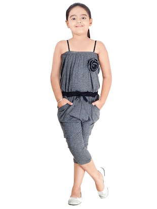 grey cotton jumpsuit - 14518287 - Standard Image - 4