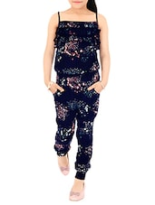navy blue cotton jumpsuit -  online shopping for twin sets & jump suits