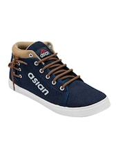 navy Canvas lace up sneaker -  online shopping for Sneakers