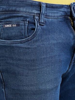 blue cotton washed jeans - 14525638 - Standard Image - 4