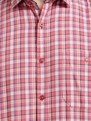 red cotton casual shirt - 14525671 - Standard Image - 4