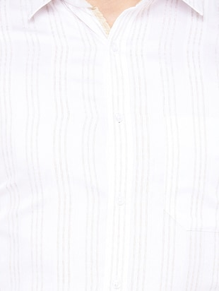 white cotton formal shirt - 14527200 - Standard Image - 4