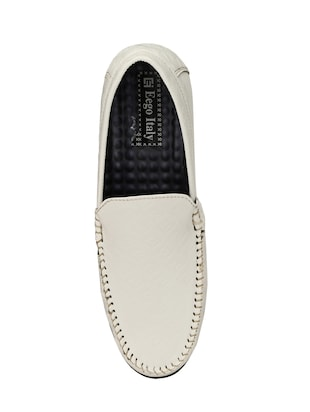 white leatherette slip on loafer - 14528670 - Standard Image - 4