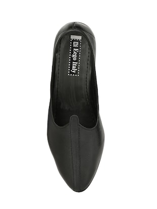 black leatherette slip on juti - 14528707 - Standard Image - 4