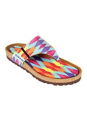 multi colored flat forms sandal -  online shopping for sandals