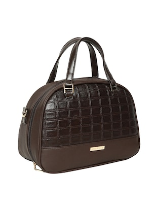 brown leatherette handbag - 14530308 - Standard Image - 4