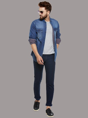blue denim plain jeans - 14530310 - Standard Image - 4