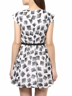 multi colored belted dress - 14531449 - Standard Image - 4