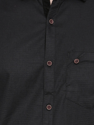 black cotton casual shirt - 14531669 - Standard Image - 4