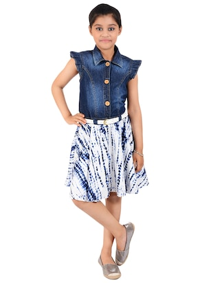 navy blue cotton frock - 14532494 - Standard Image - 4