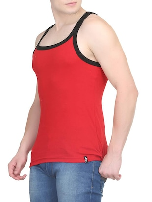 red cotton vest (Set Of 2) - 14533549 - Standard Image - 4
