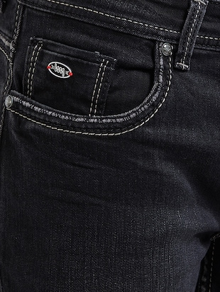 black cotton plain jeans - 14536504 - Standard Image - 4