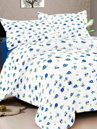 100% Cotton King size Double Bedsheet With Two pillow covers -  online shopping for bed sheet sets