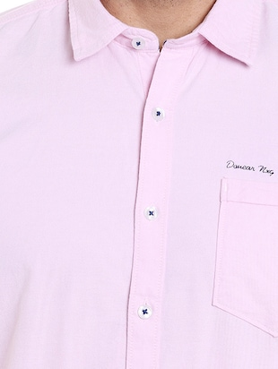 pink cotton casual shirt - 14537493 - Standard Image - 4