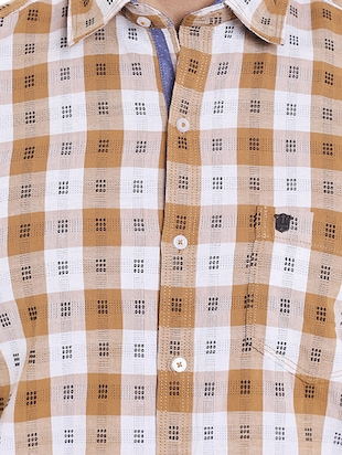 brown cotton casual shirt - 14537500 - Standard Image - 4