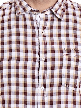 brown cotton casual shirt - 14537503 - Standard Image - 4