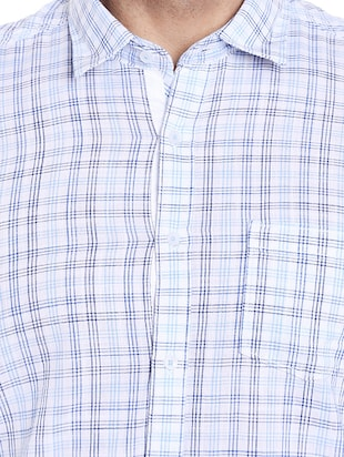 blue cotton casual shirt - 14537527 - Standard Image - 4