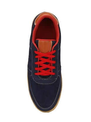 blue Suede lace up sneaker - 14539913 - Standard Image - 4