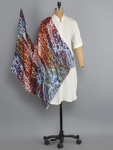 multi colored viscose stole - 14542578 - Standard Image - 1