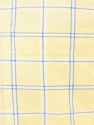 yellow cotton blend casual shirt - 14543291 - Standard Image - 4