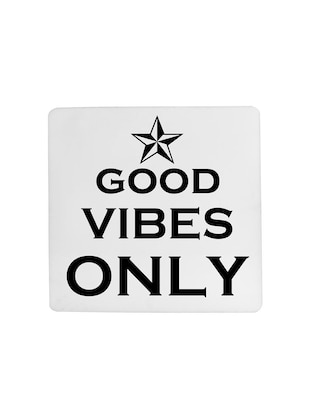 Good Vibes Only printed Set of 4 coasters - 14543444 - Standard Image - 4
