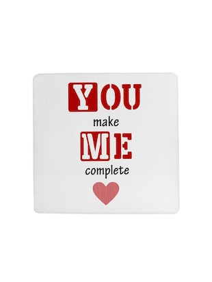 You make me Complete printed Set of 4 coasters - 14543449 - Standard Image - 4