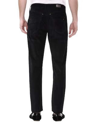 black cotton corduroy casual trousers - 14543991 - Standard Image - 4
