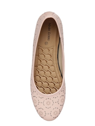 pink faux leather slip on ballerina - 14544475 - Standard Image - 4