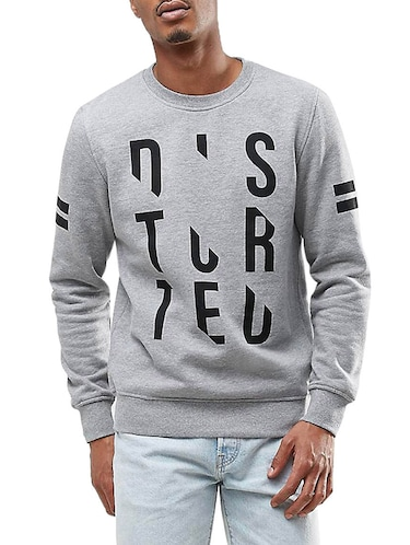 grey fleece sweatshirt - 14545198 - Standard Image - 1