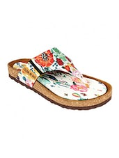 white flat forms sandal -  online shopping for sandals
