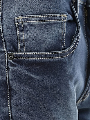blue denim washed jeans - 14545675 - Standard Image - 4