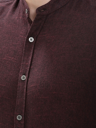 brown cotton casual shirt - 14545685 - Standard Image - 4