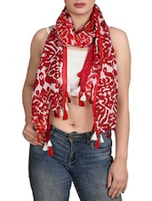 red viscose scarf -  online shopping for Scarves
