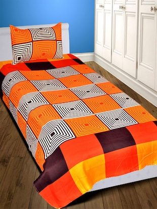 Orange Bed Sheets   Buy Orange Bed Sheets Online At Best Prices In India    LimeRoad.com