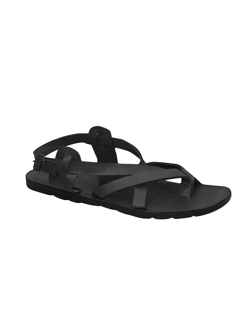 d5b087ab4a94 Buy Black Leatherette Back Strap Sandals for Men from Metmo Prime for ₹999  at 0% off