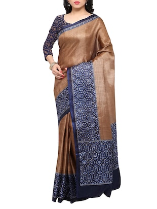 multi colored tussar silk combo saree with blouse - 14553712 - Standard Image - 4