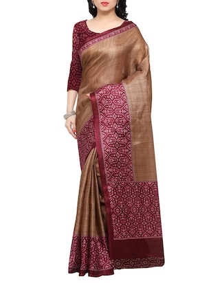 multi colored tussar silk combo saree with blouse - 14553729 - Standard Image - 4