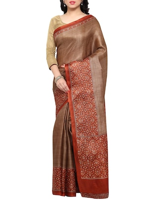 multi colored tussar silk combo saree with blouse - 14553738 - Standard Image - 4