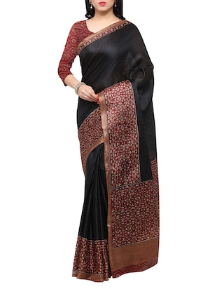multi colored tussar silk combo saree with blouse - 14553743 - Standard Image - 4