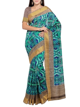 multi colored tussar silk combo saree with blouse - 14553832 - Standard Image - 4