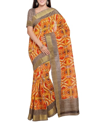multi colored tussar silk combo saree with blouse - 14553885 - Standard Image - 4