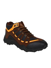 brown lace up trekking shoe -  online shopping for Sport Shoes