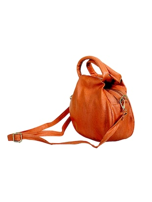 orange leatherette regular sling bag - 14559954 - Standard Image - 4