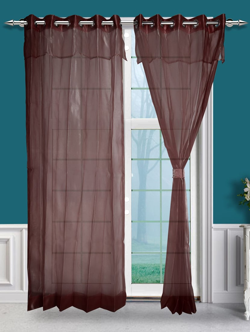 Buy Online Eyelet Double Layered Sheer Single Door Curtain From Curtains Accessories For Unisex By Just Linen For 1995 At 0 Off 2020 Limeroad Com