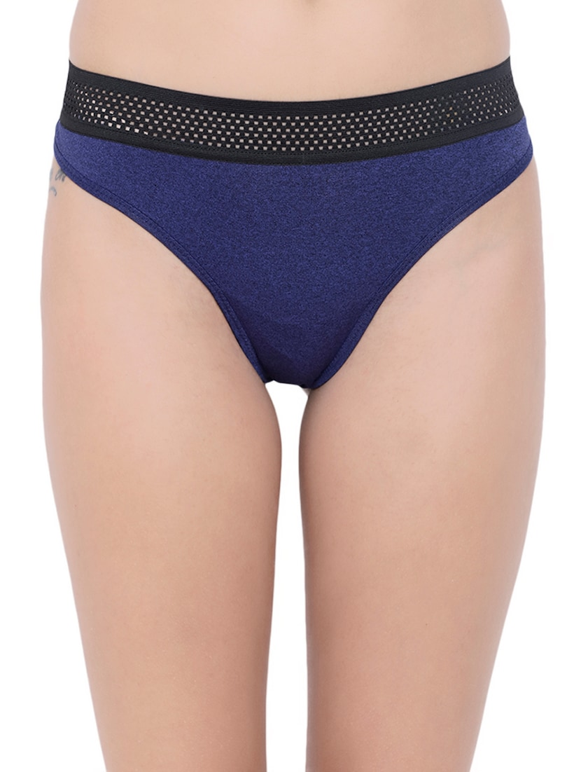 cc9e12642 Buy Set Of 3 Multi Colored Thongs Panties by Basiics - Online shopping for  Panty in India