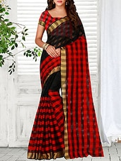 red woven saree -  online shopping for Sarees