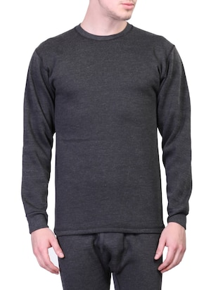 black cotton thermal top -  online shopping for Thermal Tops