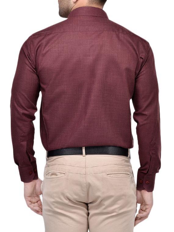 0b6c05b4141 Buy Purple Cotton Blend Formal Shirt for Men from Hang Up for ₹568 at 62%  off