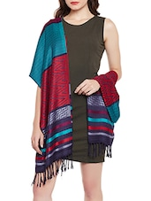 Multicolored woolen stole -  online shopping for stoles