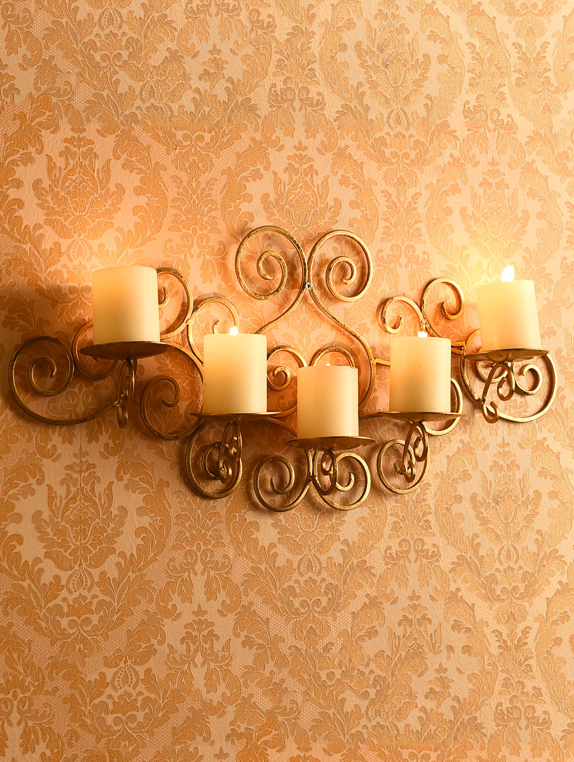 Buy Online Metallic Gold Wall Sconce With Free Candles From Candle Holders For Unisex By Hosley For 2565 At 5 Off 2021 Limeroad Com